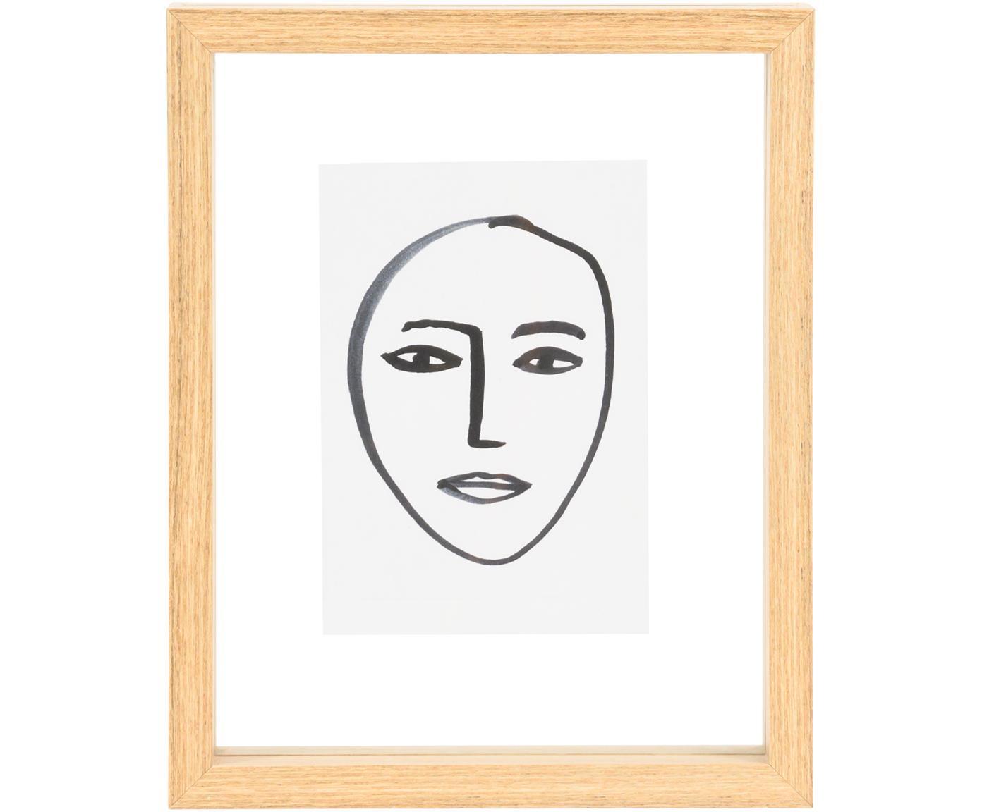 Stampa digitale incorniciata Aesthetic, Cornice: pannello di fibra a media, Immagine: carta, Marrone, bianco, nero, Larg. 15 x Alt. 20 cm