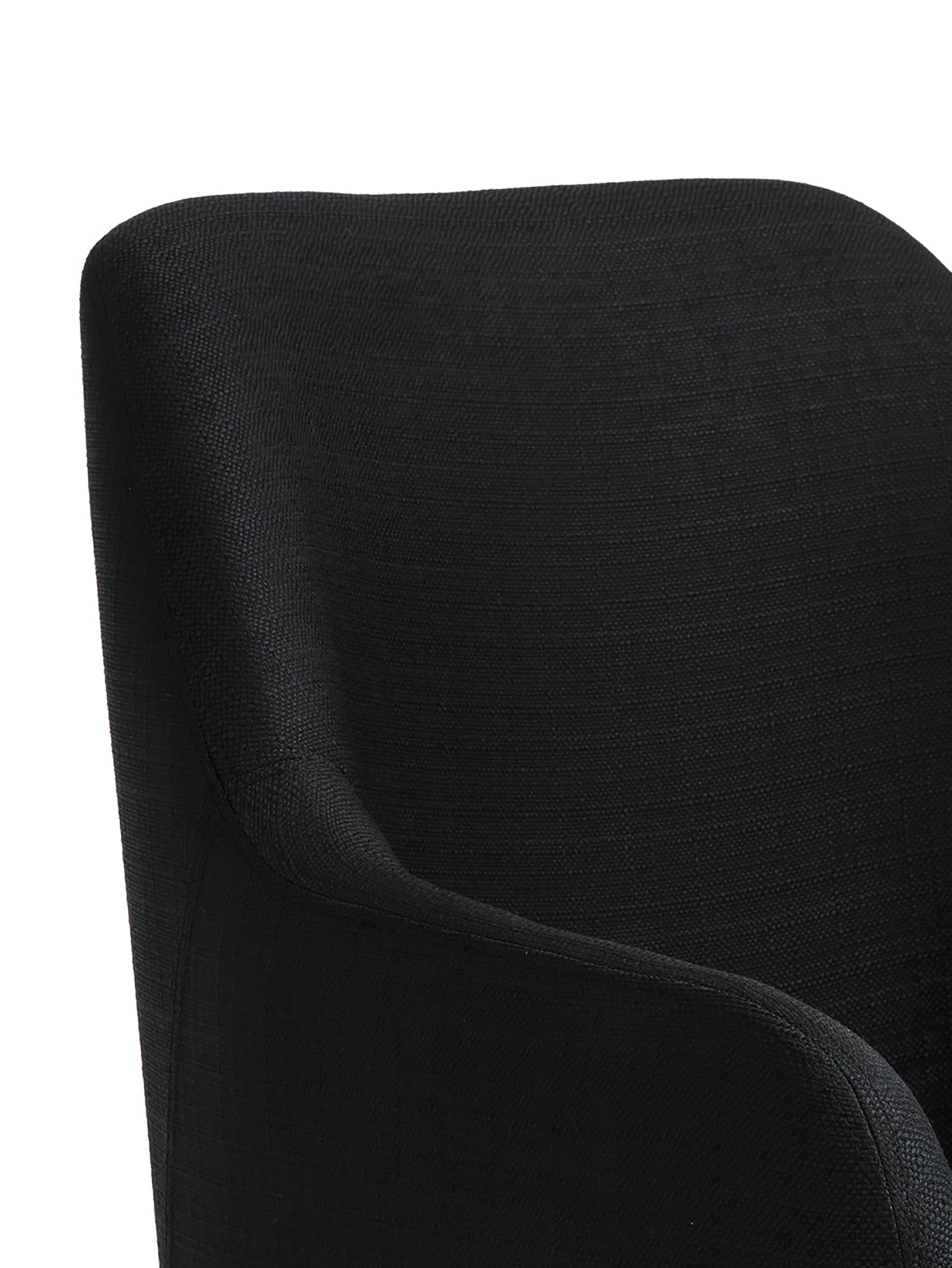 Čalouněná židle spodručkami Isla, Černá