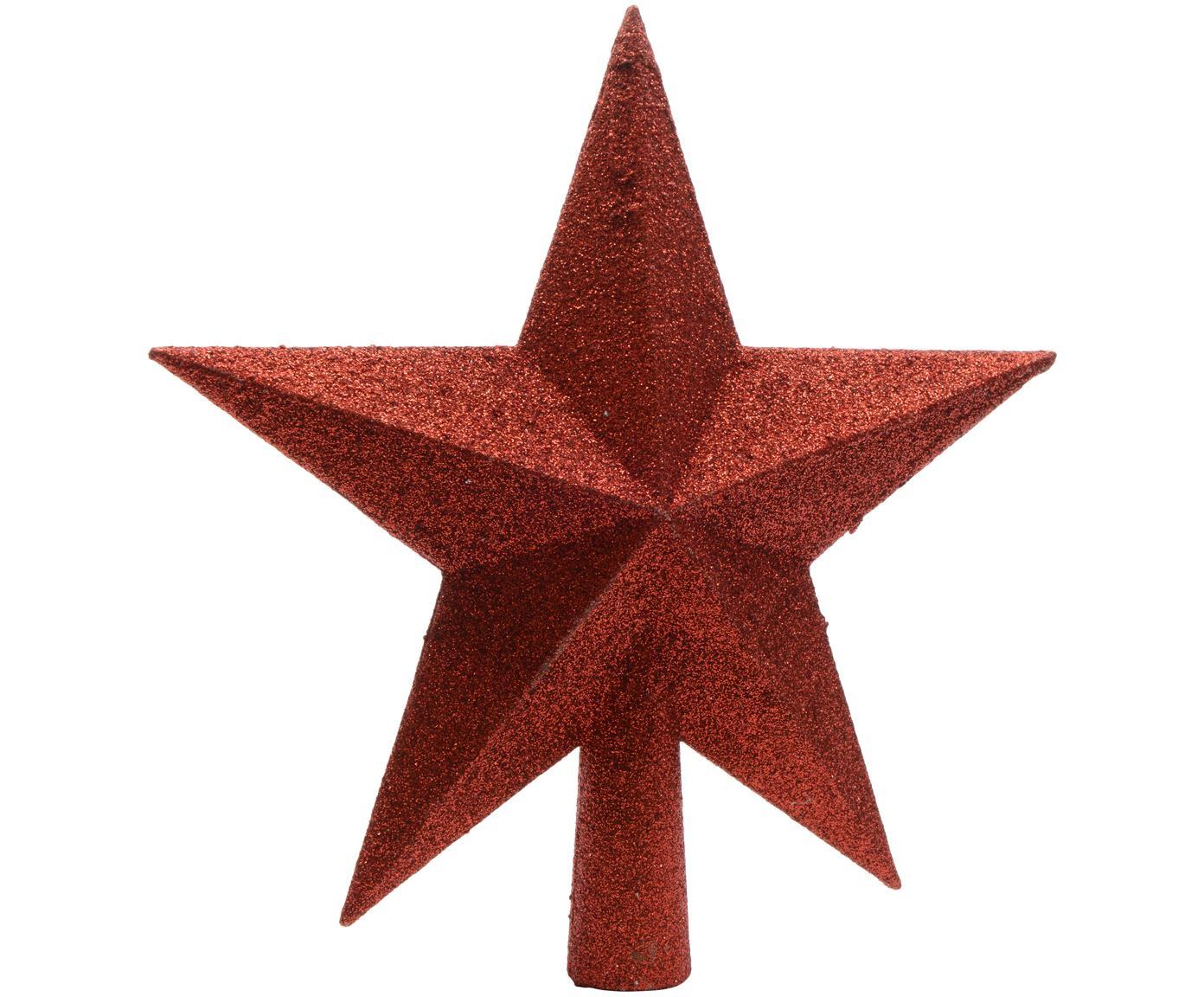Ozdoba na czubek choinki Morning Star, Tworzywo sztuczne, Czerwony, Ø 19 cm