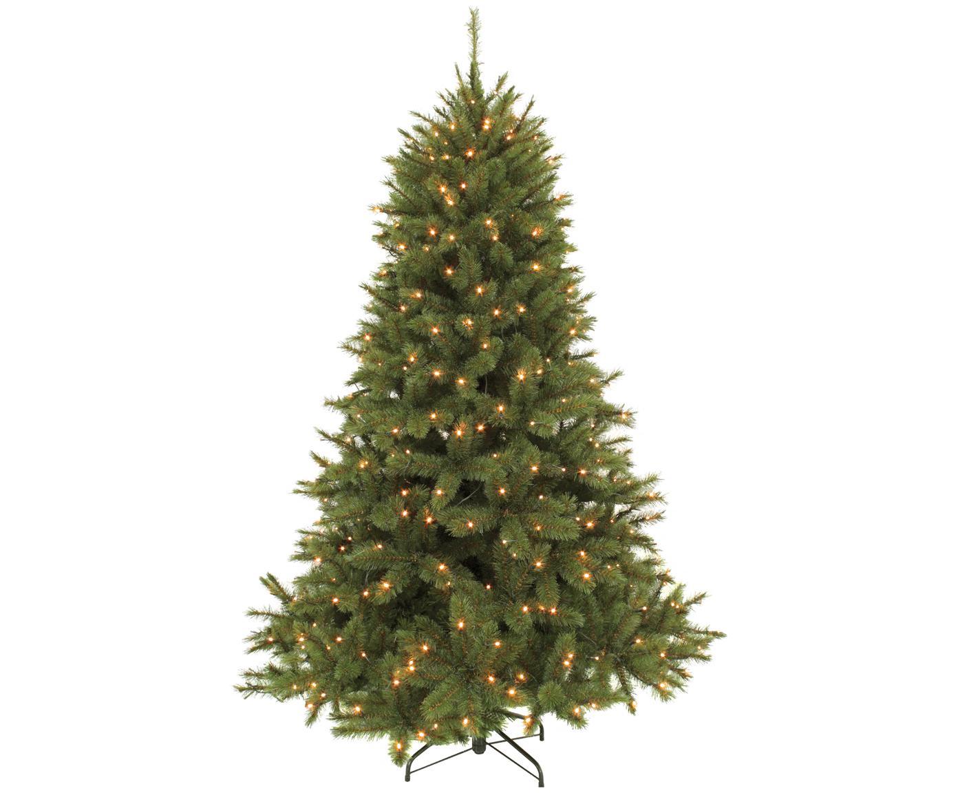 Künstlicher LED Weihnachtsbaum Forest, Dunkelgrün, Ø 119 x H 155 cm