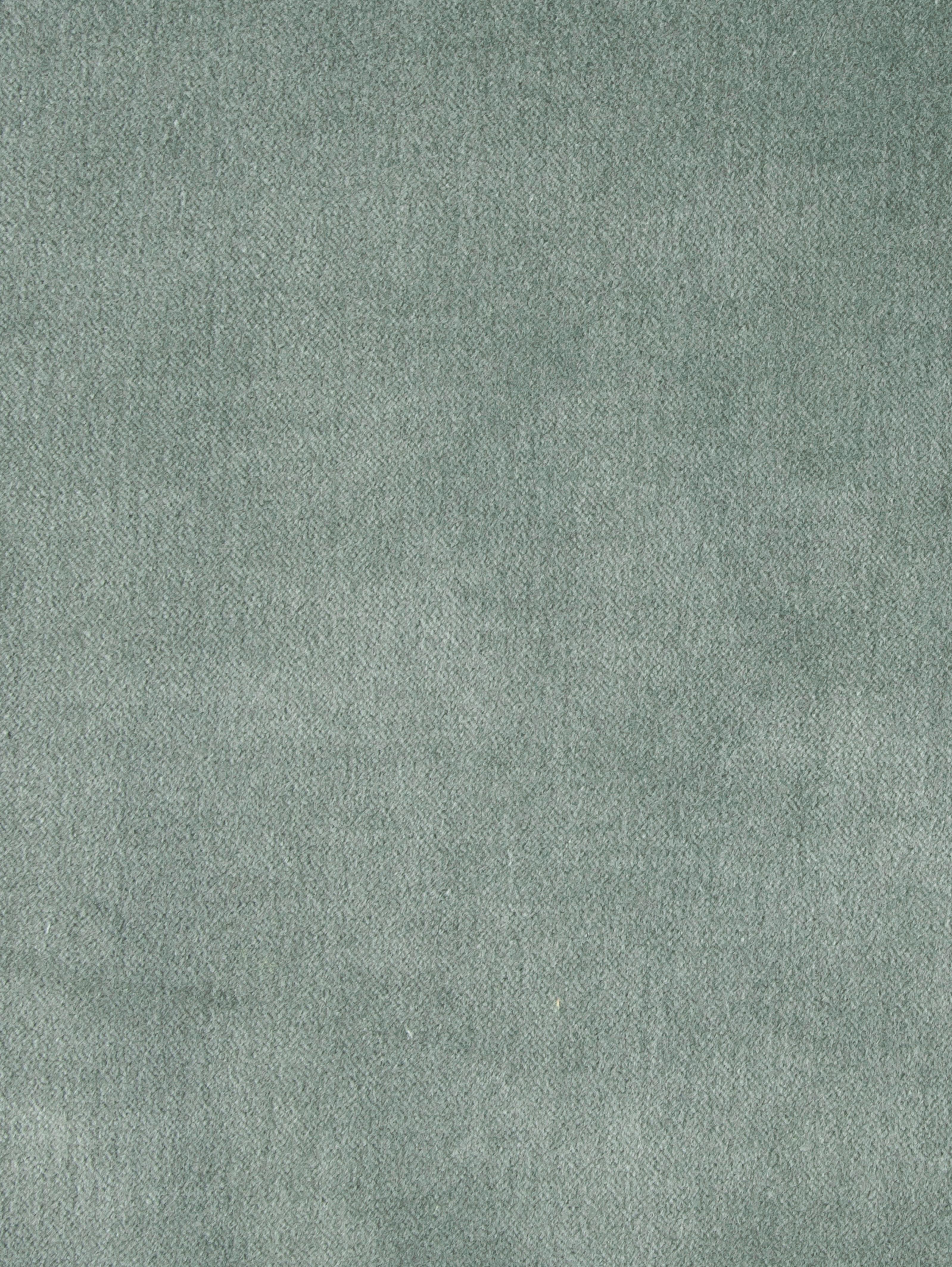 Samt-Kissenhülle Phoeby in Salbeigrün mit Fransen, 100% Baumwolle, Salbeigrün, 40 x 40 cm