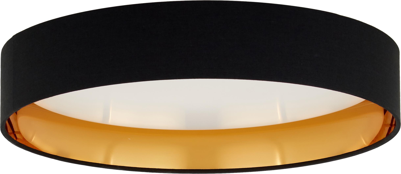 Lampa sufitowa LED Mallory, Czarny, Ø 41 x W 10 cm