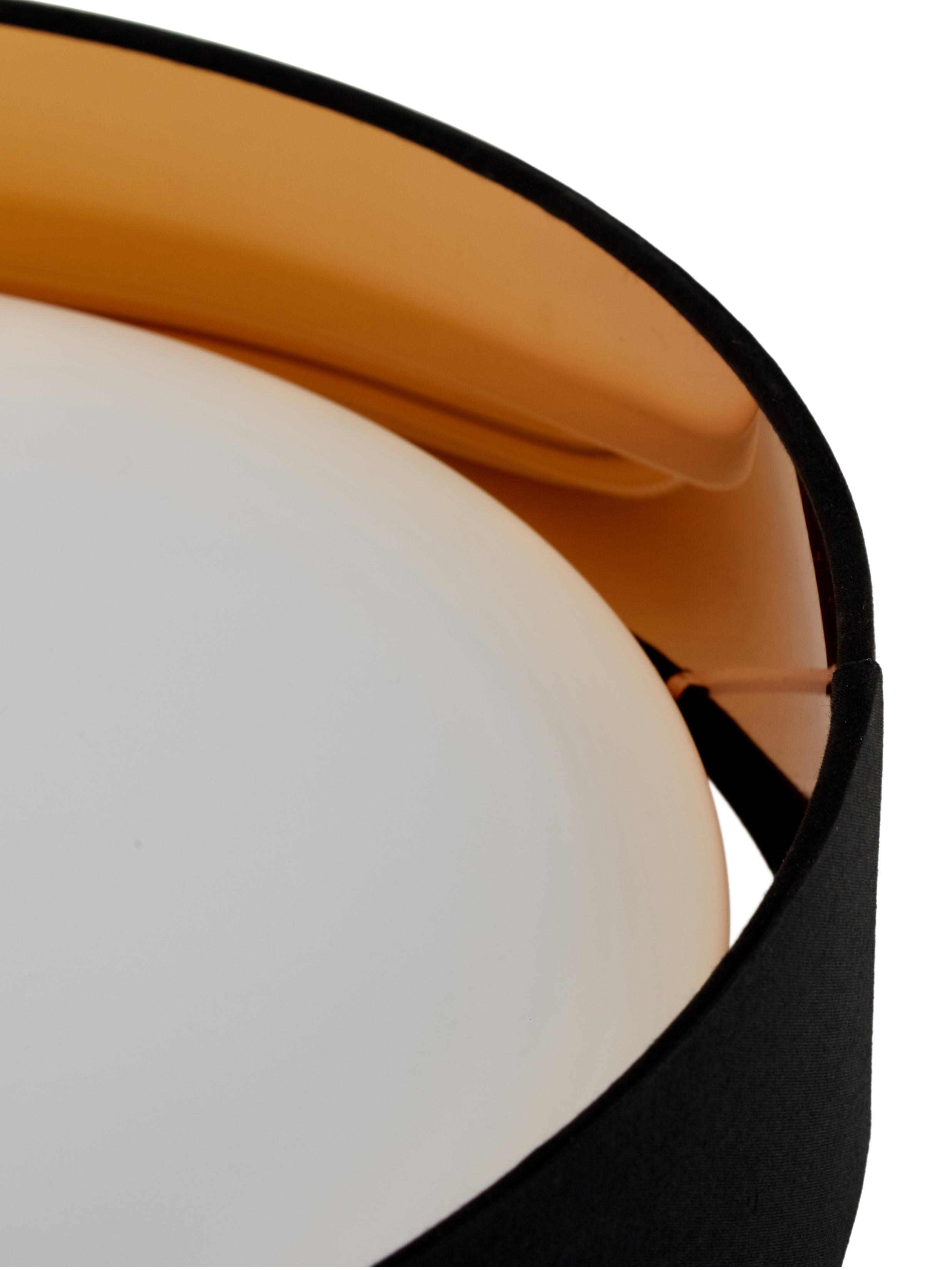 LED plafondlamp Mallory, Frame: metaal, Diffuser: kunststof, Zwart, Ø 41 x H 10 cm