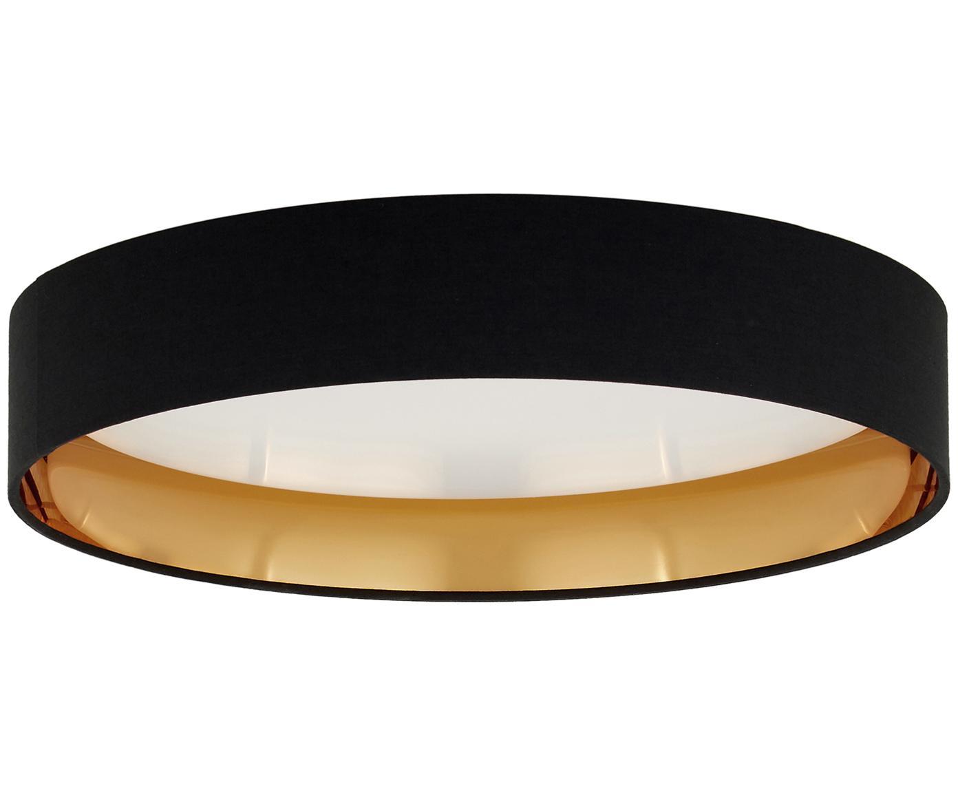 LED-Deckenleuchte Mallory, Rahmen: Metall, Diffusorscheibe: Kunststoff, Schwarz, ∅ 41 x H 10 cm