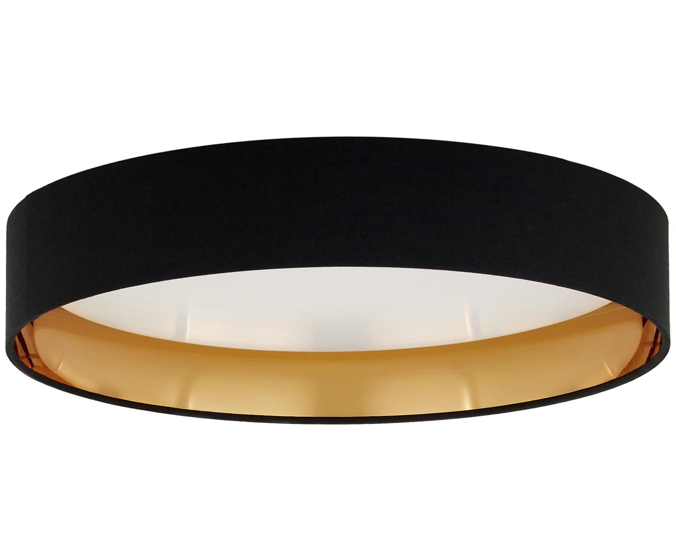 Plafoniera a LED Mallory, Cornice: metallo, Nero, Ø 41 x Alt. 10 cm