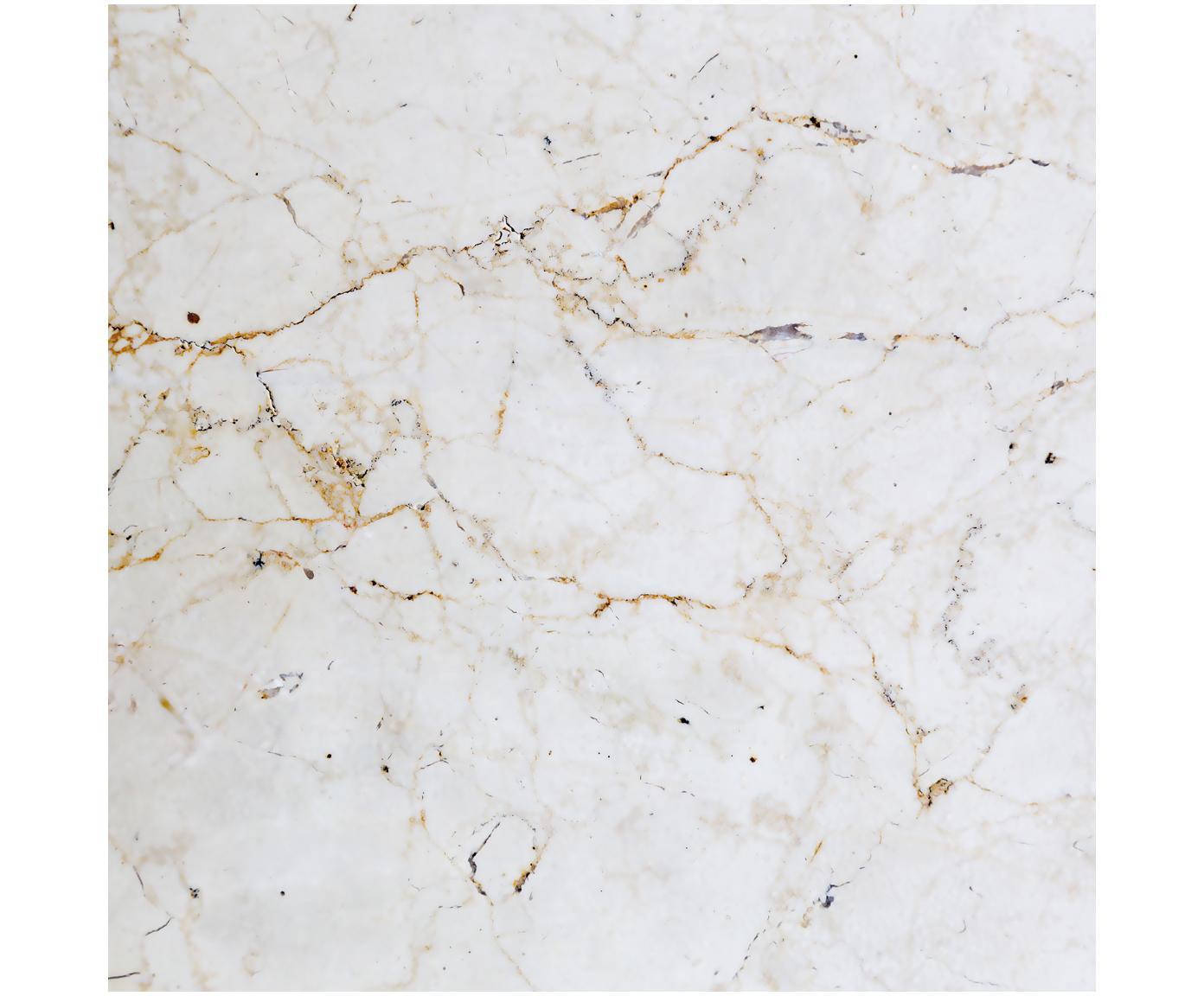 Fototapete Milano, Vlies, Weiß, marmoriert, Schwarz, Goldfarben, 300 x 300 cm
