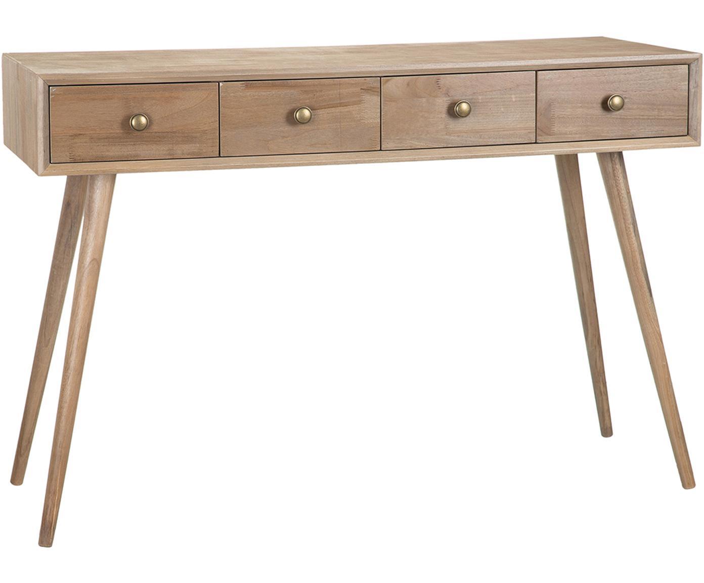 Consola Marni, Patas: madera de alcanfor, Tablero: tablero de fibras de dens, Madera, An 110 x Al 78 cm