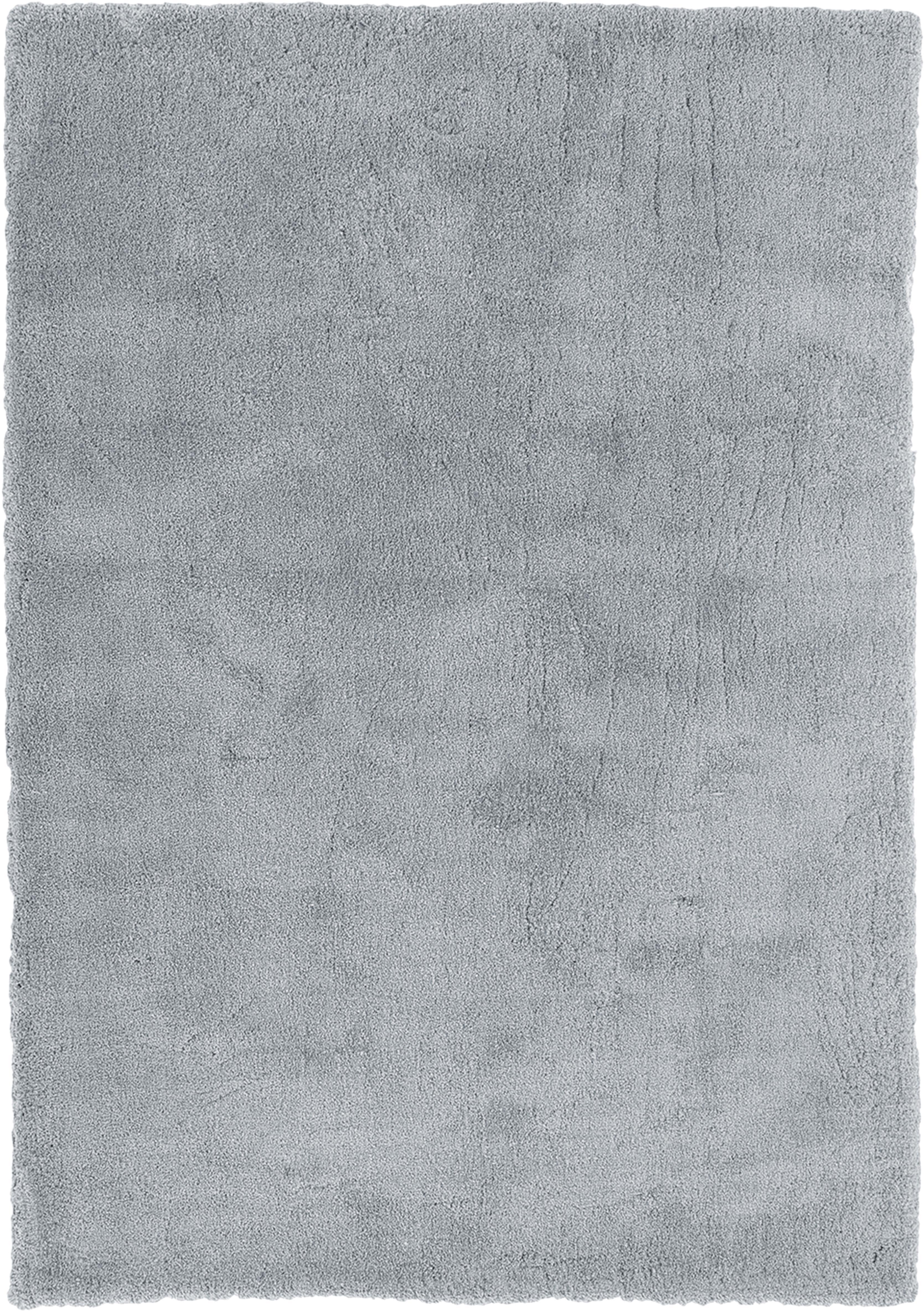 Tappeto peloso morbido grigio scuro Leighton, Retro: 70% poliestere, 30% coton, Grigio, Larg. 120 x Lung. 180 cm (taglia S)