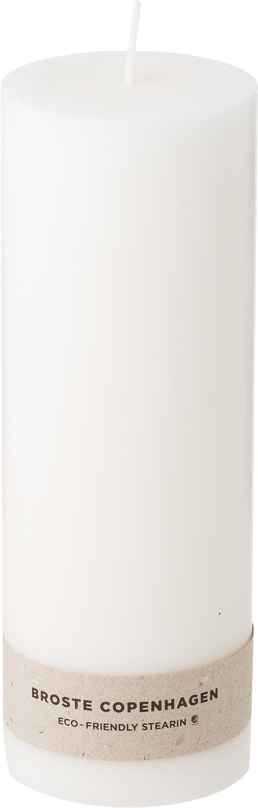 Candele pilastro Light, 2 pz., 100% stearina, Bianco, Ø 7 x A 20 cm