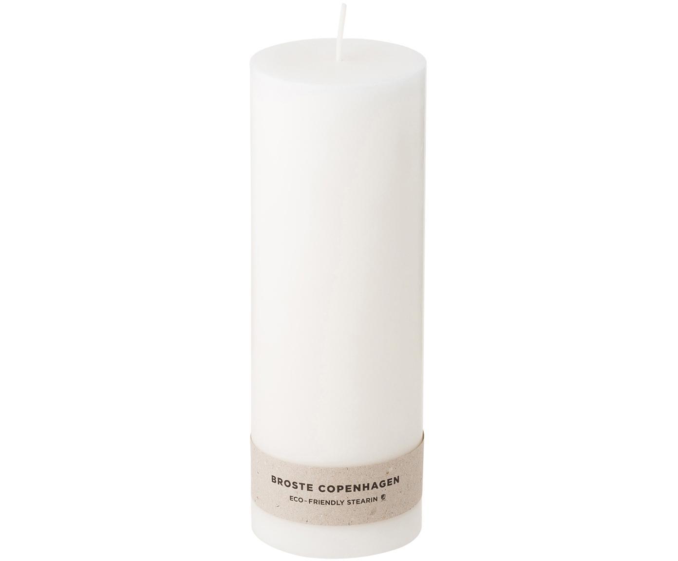 Stompkaarsen Light, 2 stuks, 100% Stearine, Wit, Ø 7 x H 20 cm