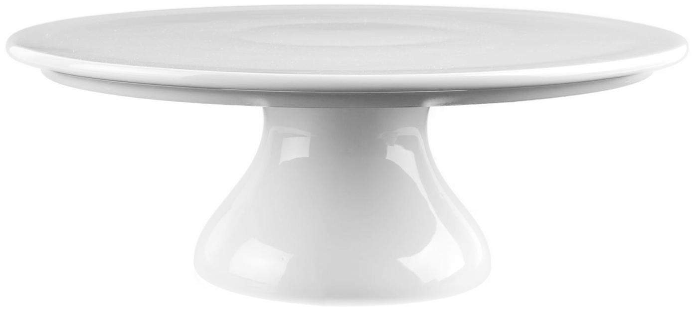 Kleine Tortenplatte Fonia, Porzellan, Weiß, Ø 24 x H 9 cm