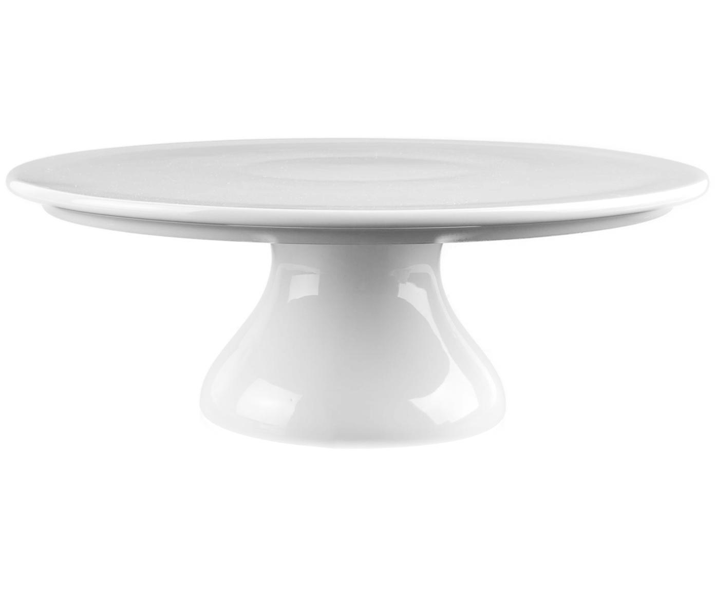 Tortenplatte Fonia, Porzellan, Weiß, Ø 25 x H 9 cm