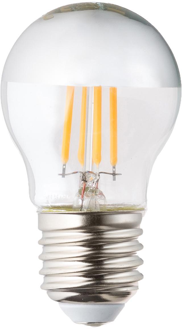 Lampadina dimmerabile Gamiel (E27 / 4,8Watt) 3 pz, Paralume: vetro cromato, Base lampadina: alluminio, Trasparente, cromo, Ø 5 x Alt. 8 cm