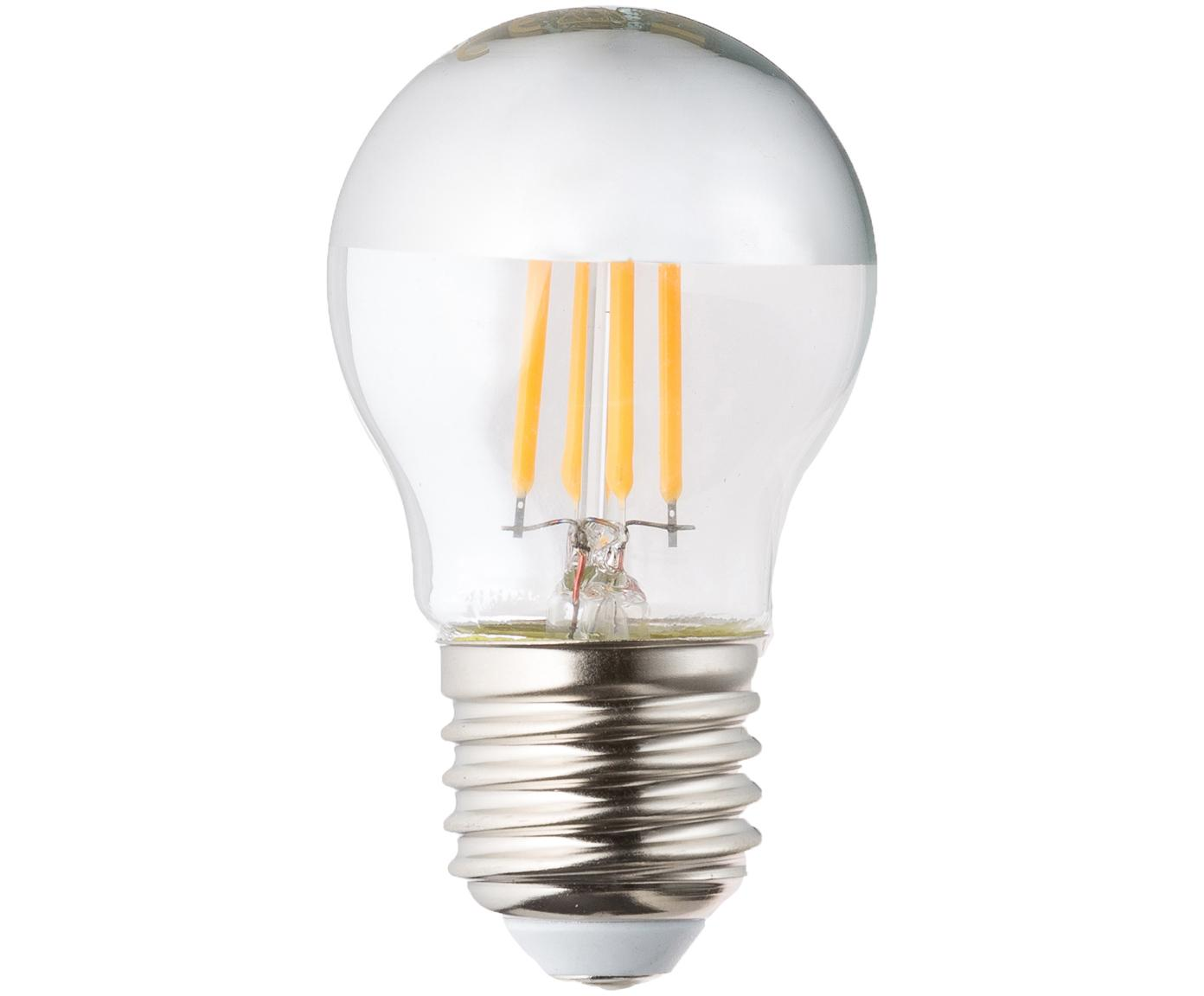 Dimmbare Leuchtmittel Gamiel (E27/4,8W), 3 Stück, Leuchtmittelschirm: Glas,verchromt, Leuchtmittelfassung: Aluminium, Transparent, Chrom, Ø 5 x H 8 cm