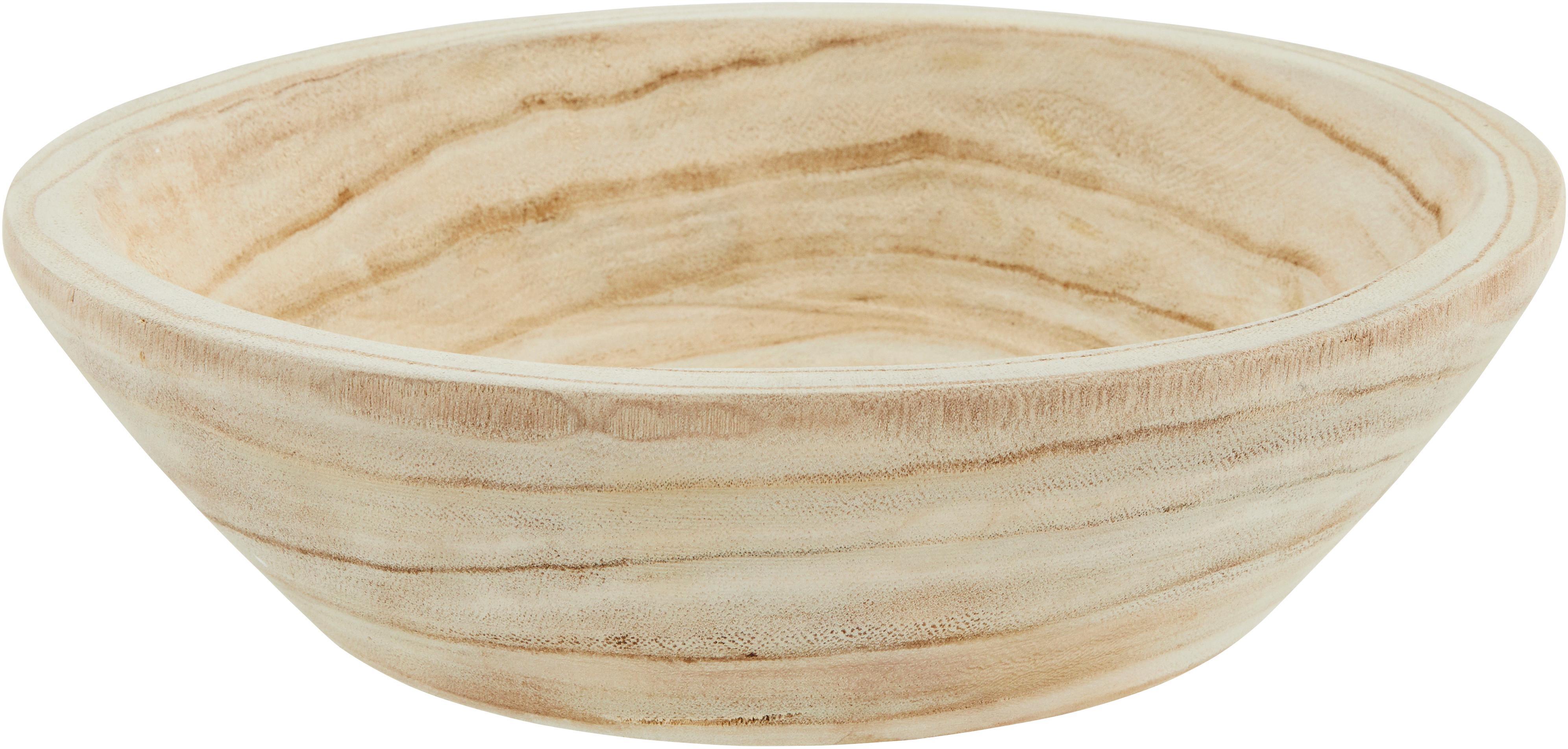 Bol de madera de paulownia Sandry, Madera de Paulownia aceitada, Natural, Ø 29 x Al 8 cm
