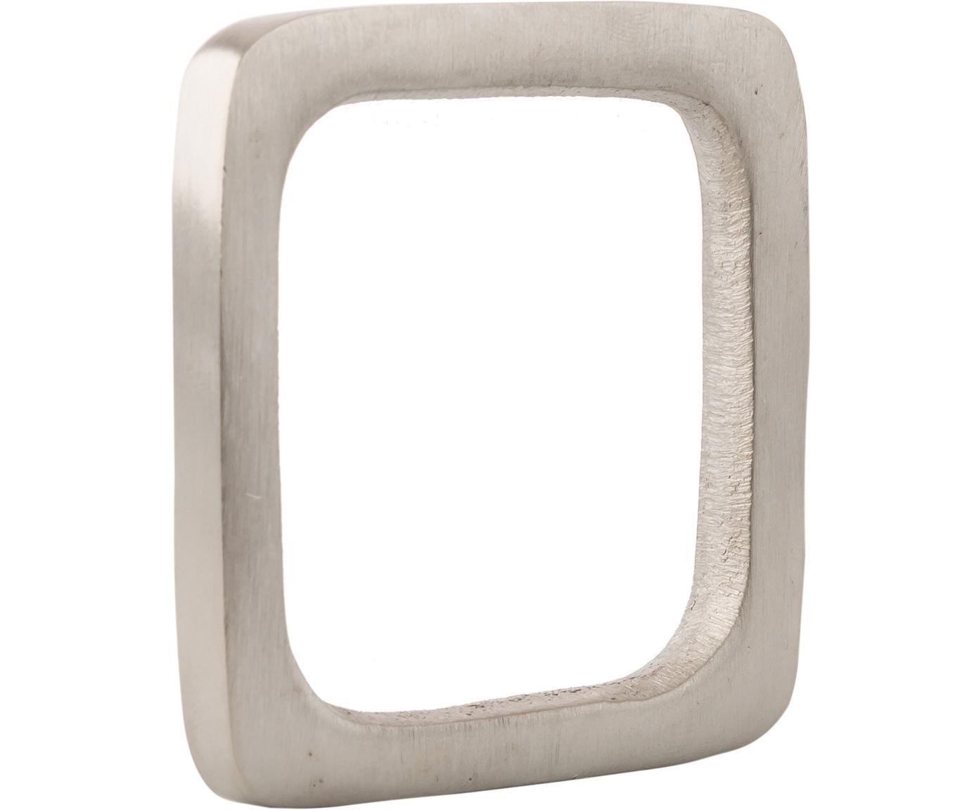 Serviettenringe Squark, 4 Stück, Aluminium, vernickelt, Nickel, 5 x 5 cm