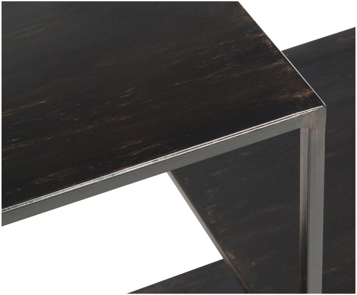 Mały regał z metalu Angle, Metal malowany proszkowo, Czarny, S 101 x W 97 cm
