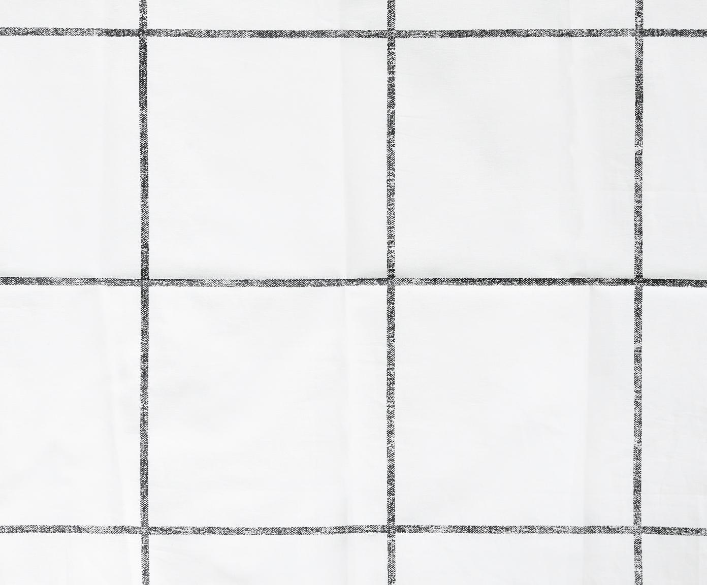 Pościel z perkalu Juna, Biały, czarny, 135 x 200 cm