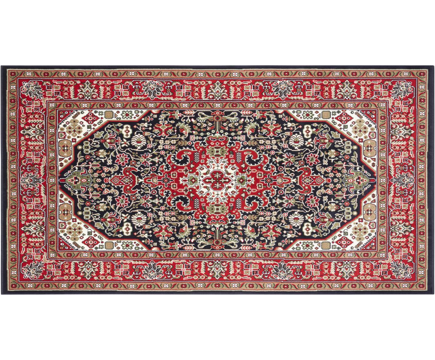 Loper Skazar Isfahan in Oriënt stijl, Polypropyleen, Rood, multicolour, B 80 x L 150 cm (maat XS)
