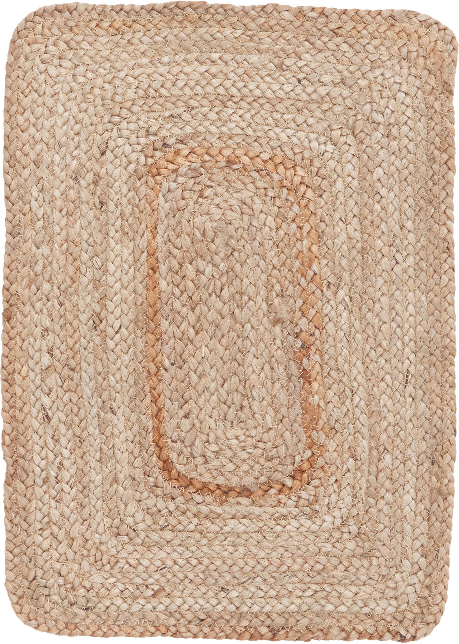 Jute placemats Ural, 2 stuks, Jute, Jutekleurig, 35 x 50 cm