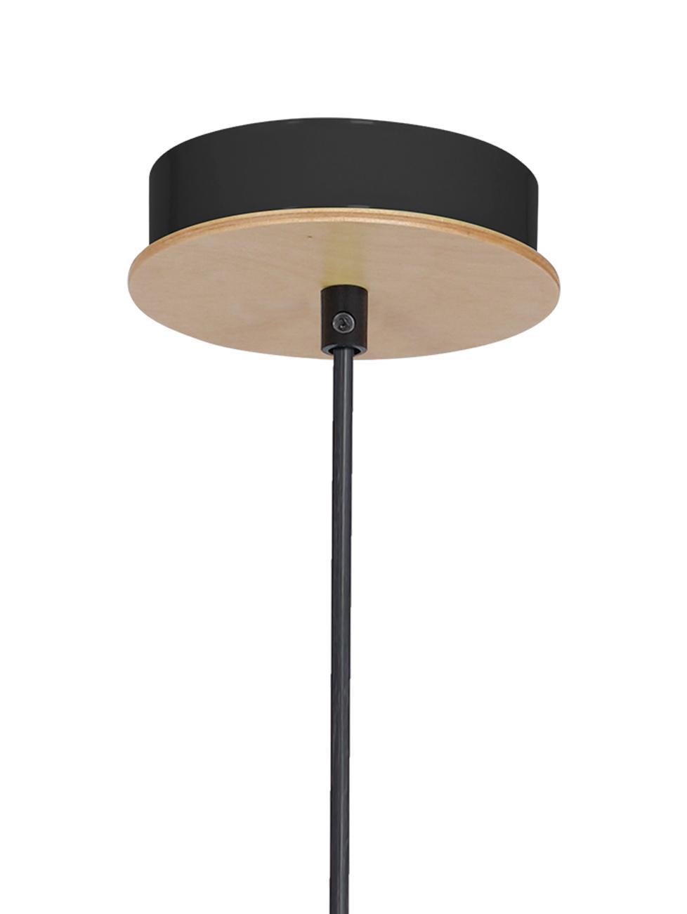 Lampada a sospensione in legno Lines, Legno, nero, Ø 6 x Alt. 11 cm