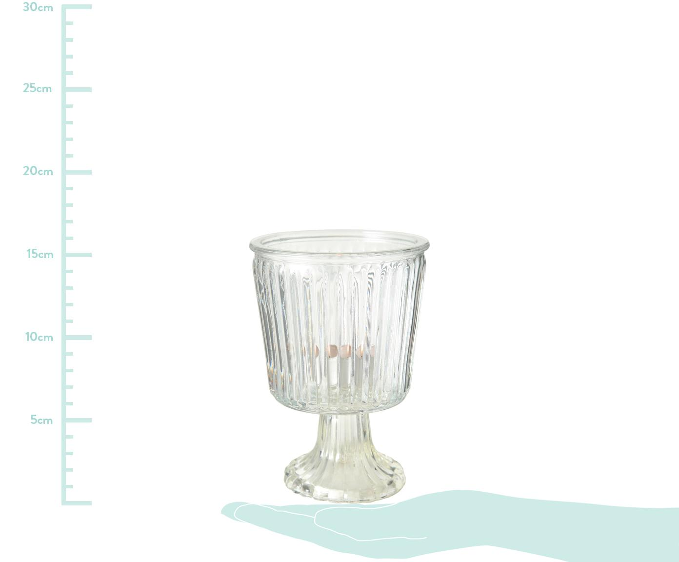 Teelichthalter-Set Romance, 2-tlg., Glas, Transparent, Ø 11 cm