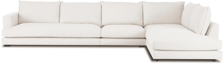 XL-hoekbank Tribeca, Bekleding: polyester, Zitvlak: schuimstof, vezelmateriaa, Frame: massief grenenhout, Poten: gelakt massief grenenhout, Beige, B 407 x D 230 cm