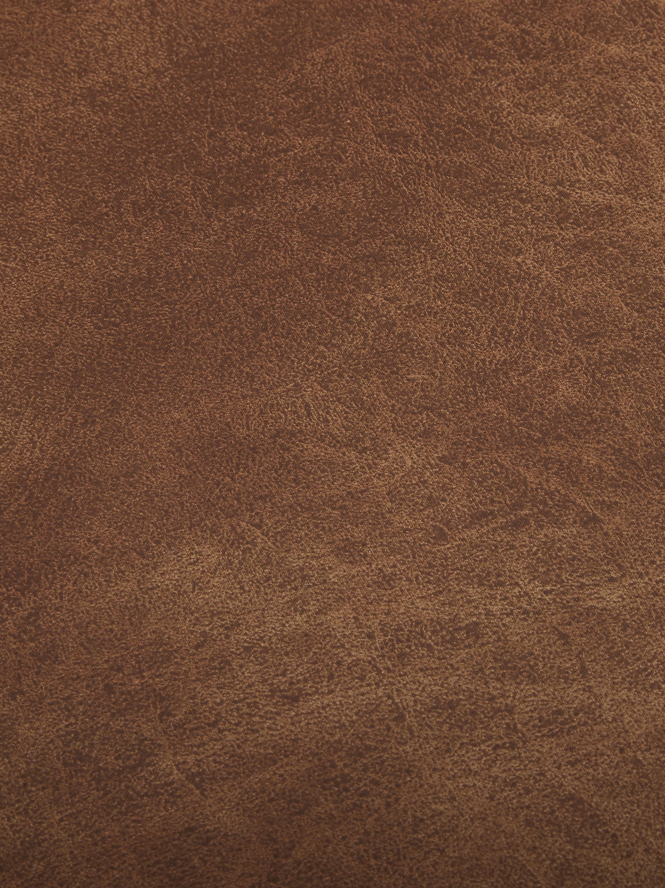Divano 2 posti in pelle marrone Hunter, Rivestimento: 70% pelle riciclata, 30% , Struttura: legno di betulla massicci, Piedini: metallo verniciato a polv, Pelle marrone, Larg. 164 x Prof. 90 cm