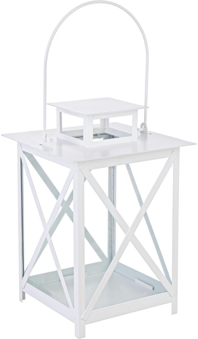 Lanterna Flaies, Struttura: metallo rivestito, Bianco, Larg. 17 x Alt. 25 cm
