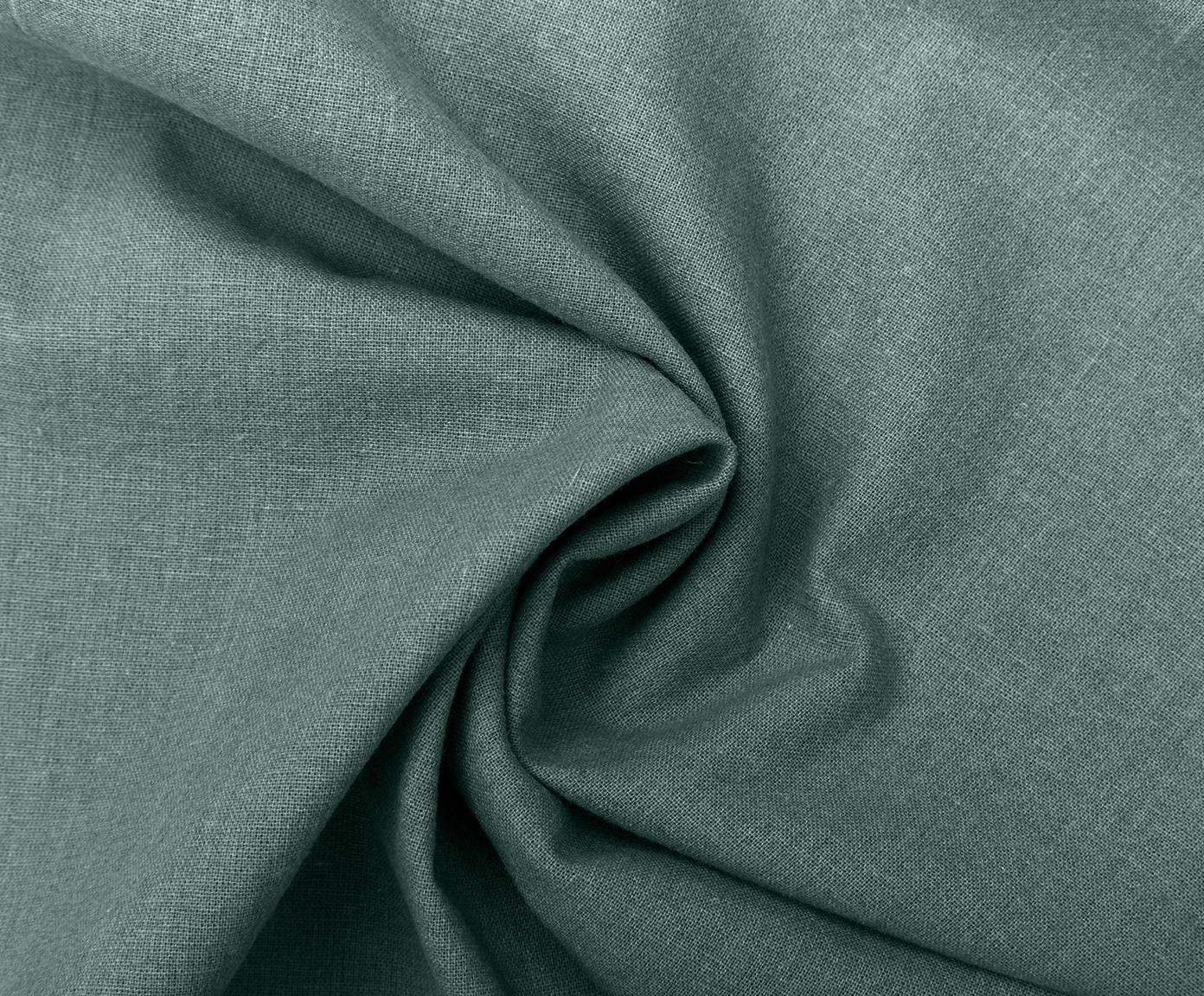 Pościel z bawełny z efektem sprania Arlene, Ciemnyzielony, 155 x 220 cm