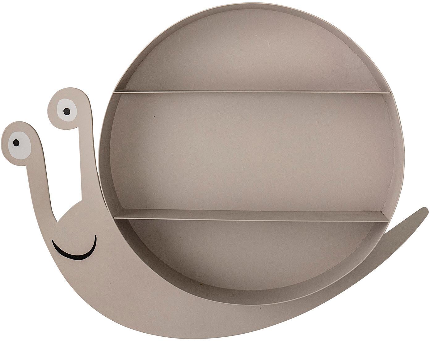 Mensola a muro in metallo Slimy, Metallo verniciato, Marrone, Larg. 50 x Alt. 40 cm