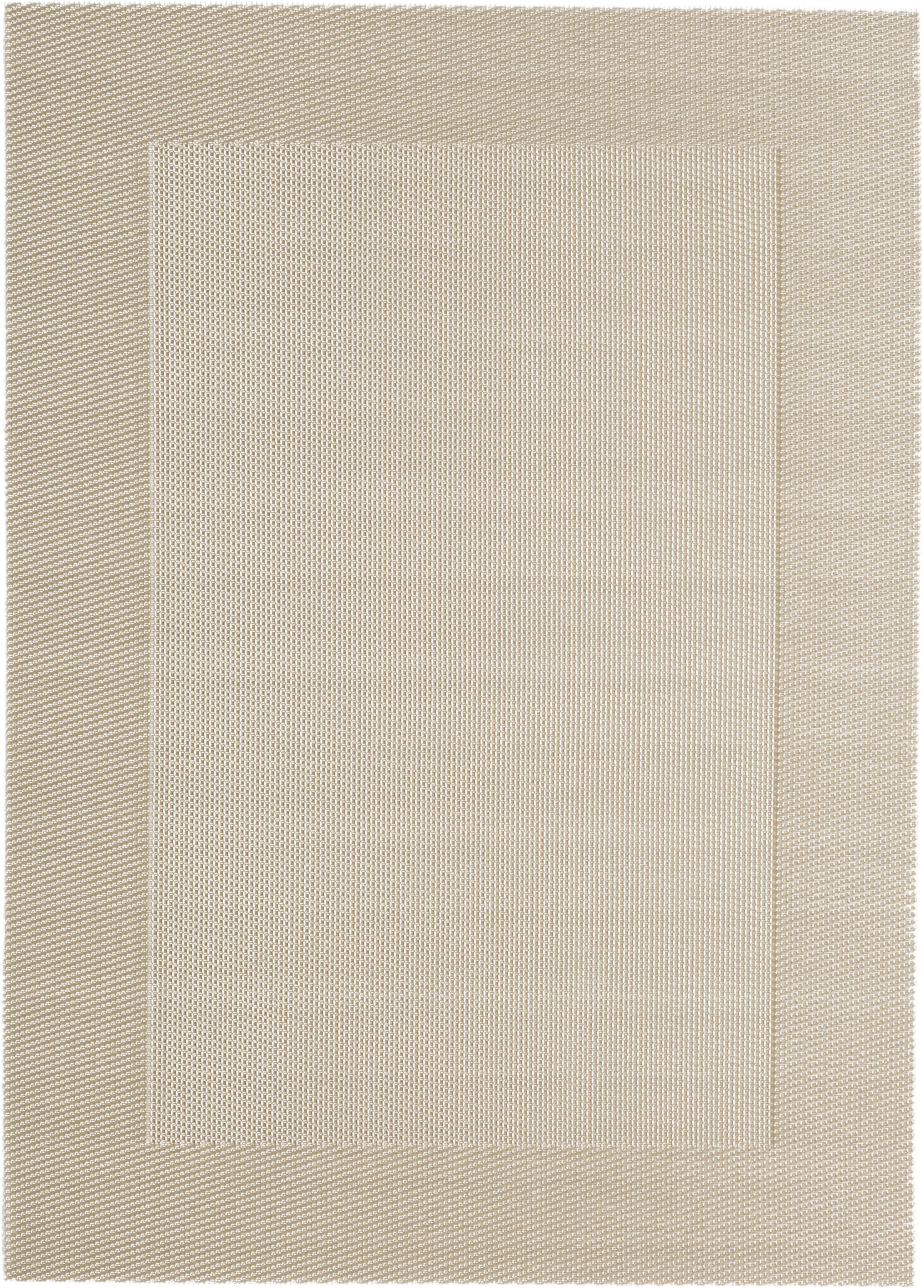 Manteles individuales de plástico Modern, 2uds., Plástico, Beige, crema, An 33 x L 46 cm