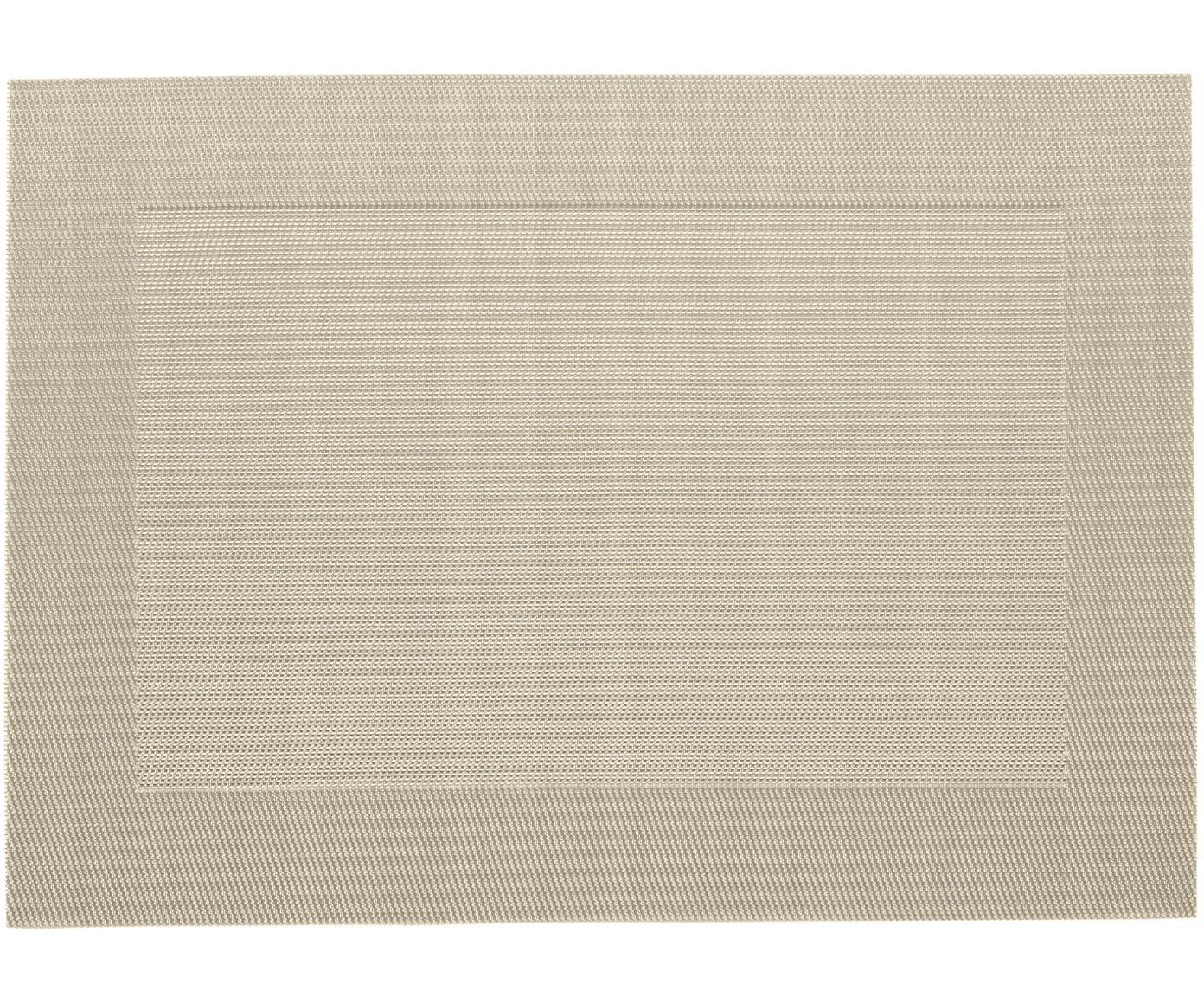 Podkładka z tworzywa sztucznego Modern, 2 szt., Tworzywo sztuczne, Beżowy, kremowy, 33 x 46 cm