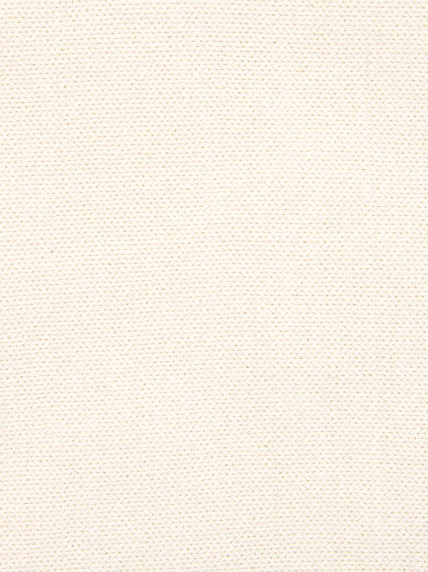 Strick-Kissenhülle Kelly mit Strukturmuster, Baumwolle, Cremeweiß, 40 x 40 cm