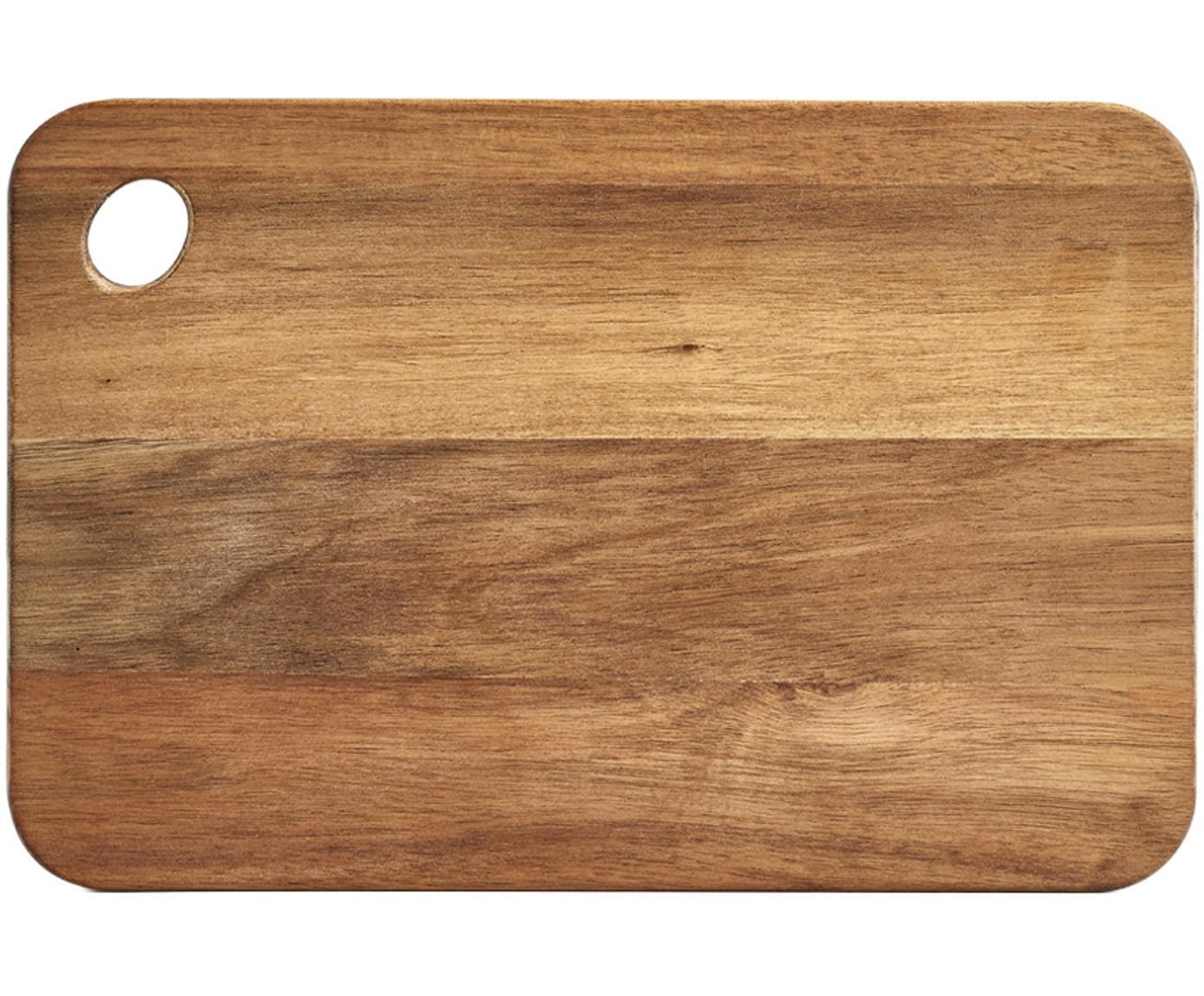Tabla de cortar de acacia Akana, Tablero: madera de acacia, aceitad, Madera de acacia, An 37 x F 25 cm