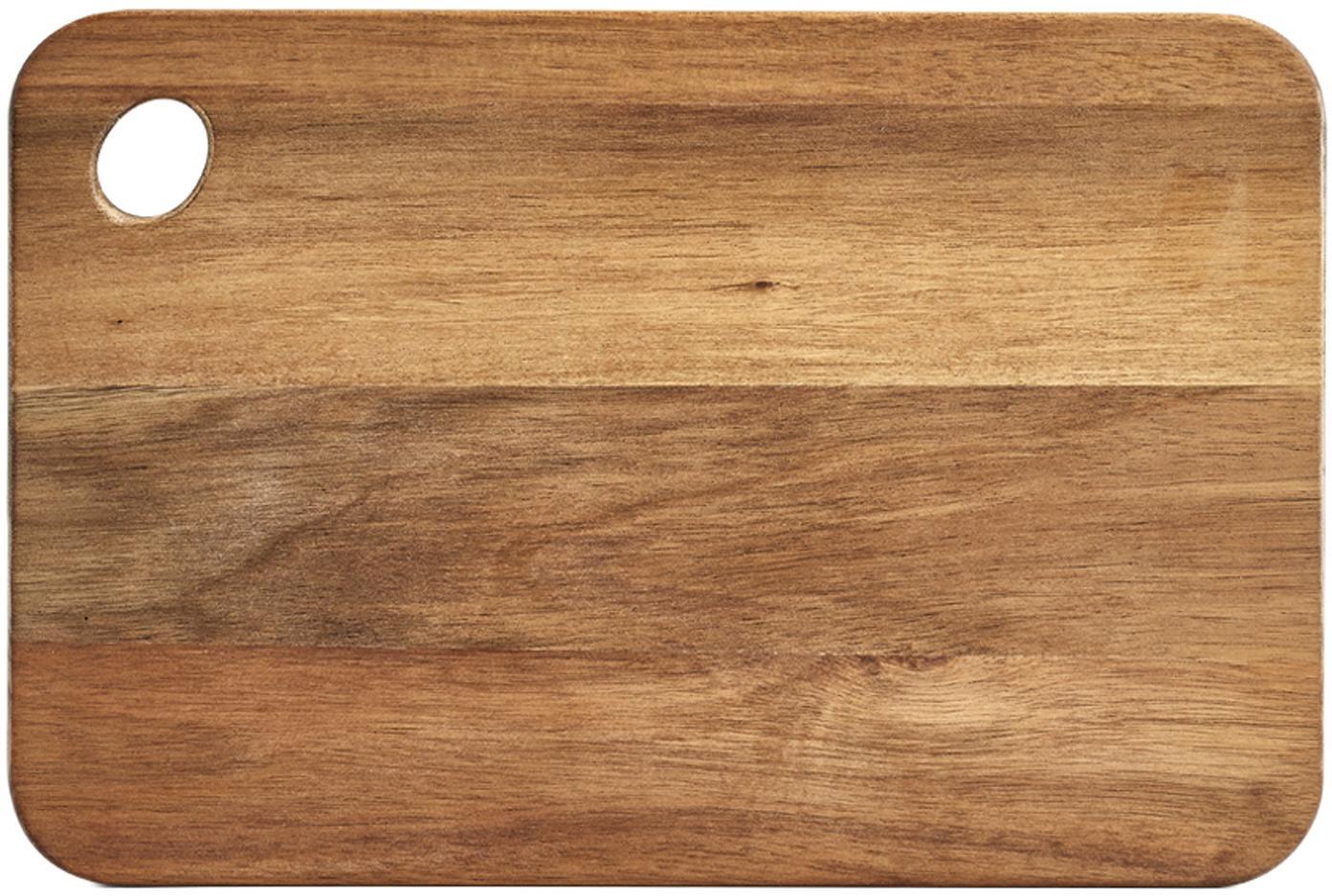 Snijplank Akana van acaciahout, Geolied acaciahout, Acaciahoutkleurig, B 37 x D 25 cm