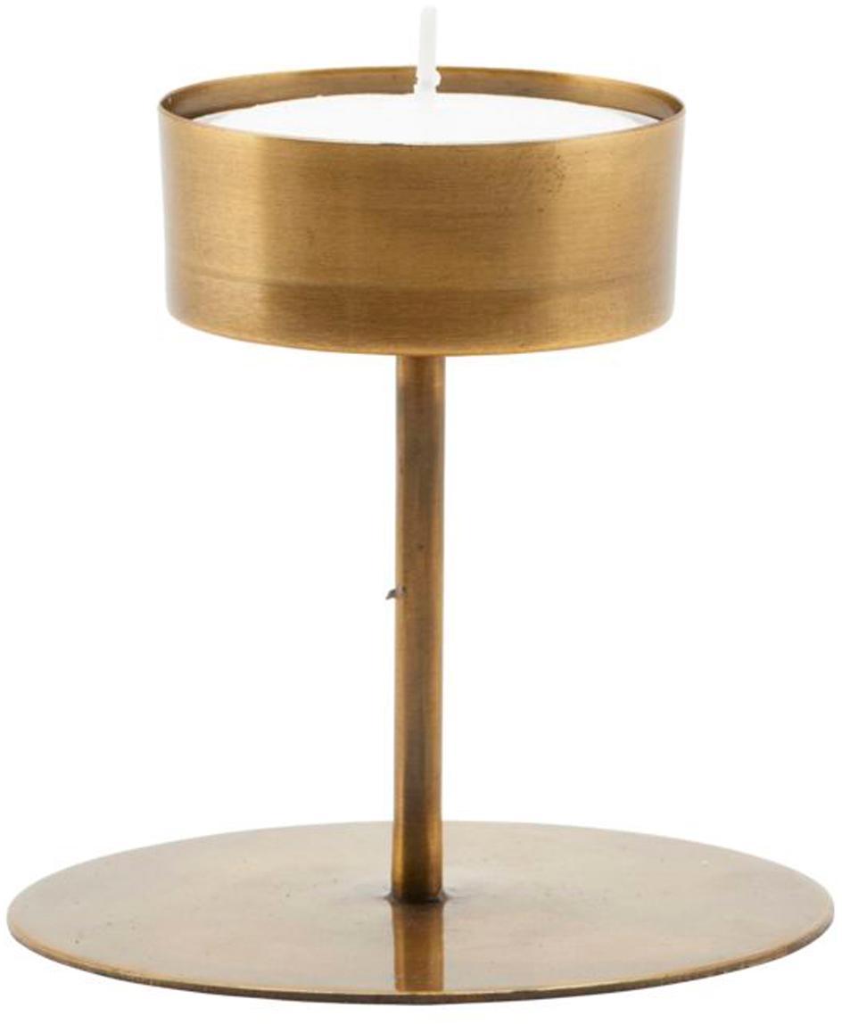Candelabro Anit, Metallo rivestito, Ottonato, Ø 11 x Alt. 10 cm