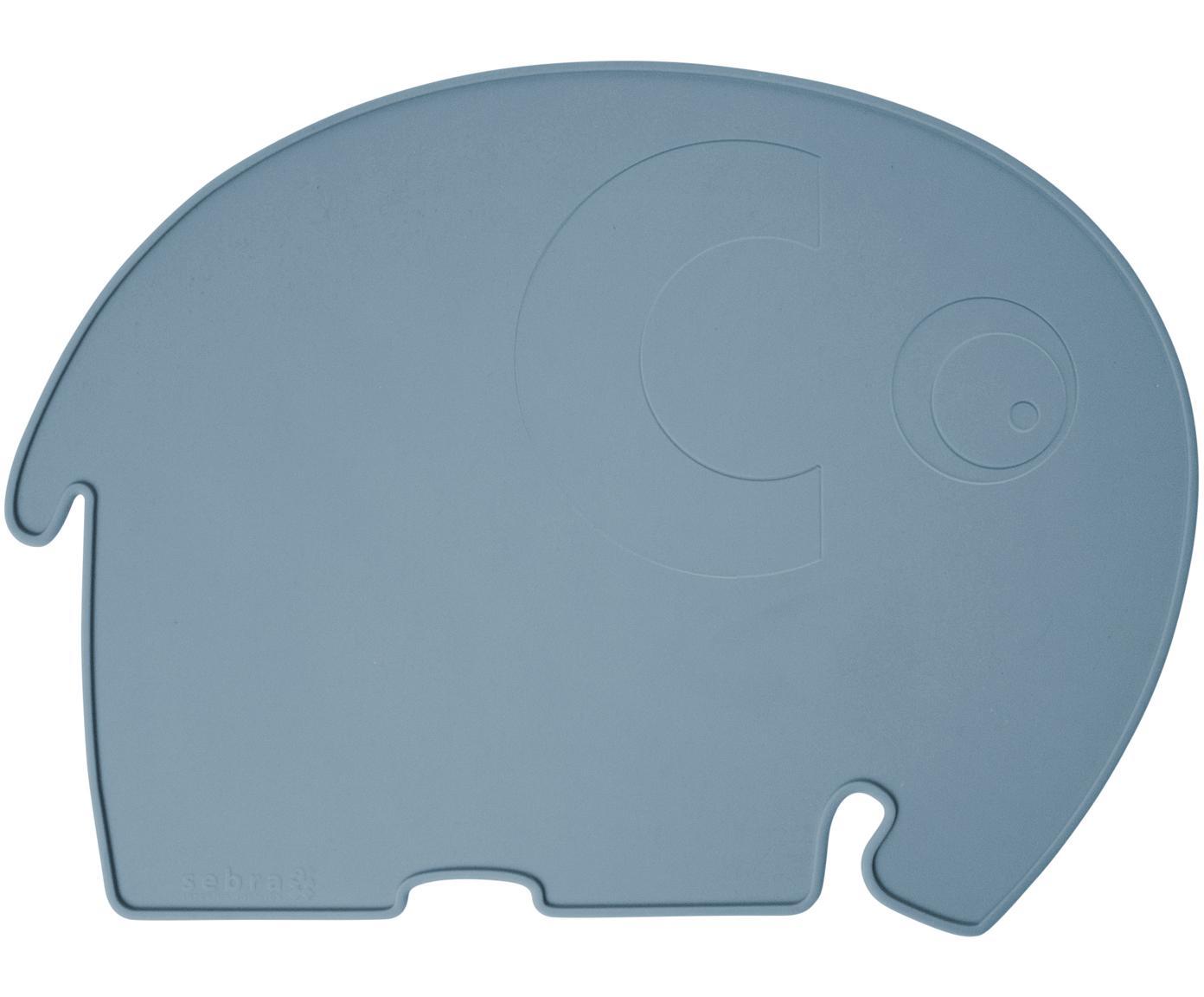 Tovaglietta elefantino in silicone Fanto, Silicone, senza BPA, Blu, Larg. 43 x Alt. 33 cm