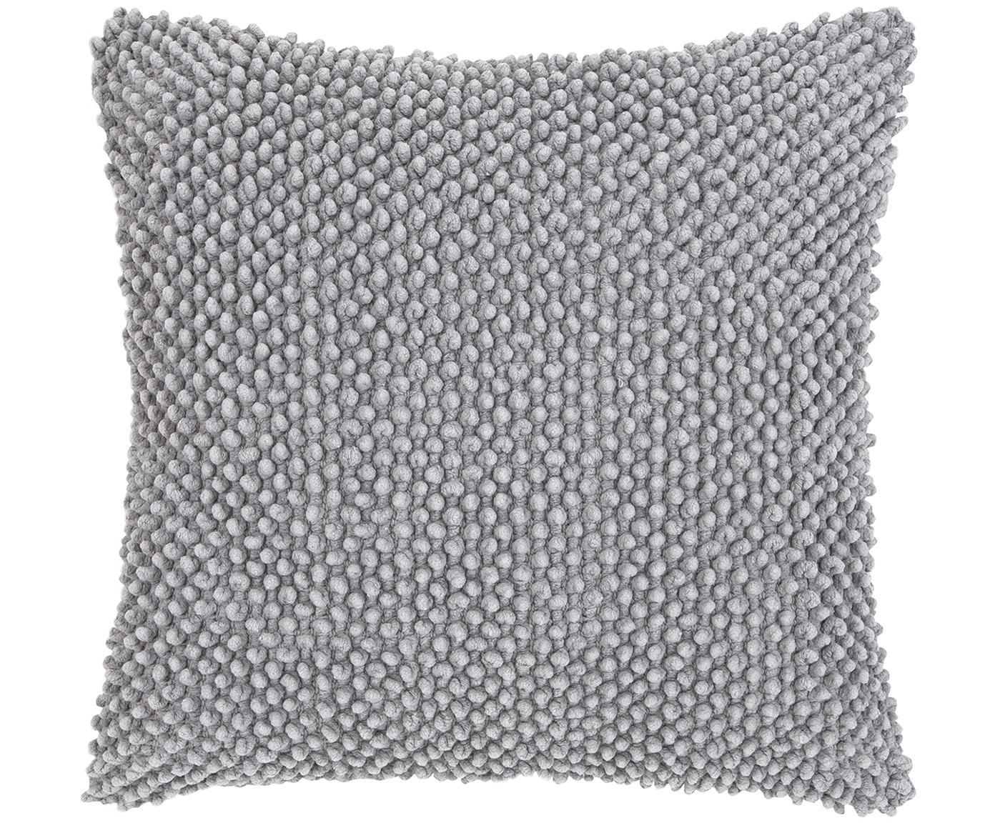 Kissenhülle Indi mit strukturierter Oberfläche, 100% Baumwolle, Hellgrau, 45 x 45 cm