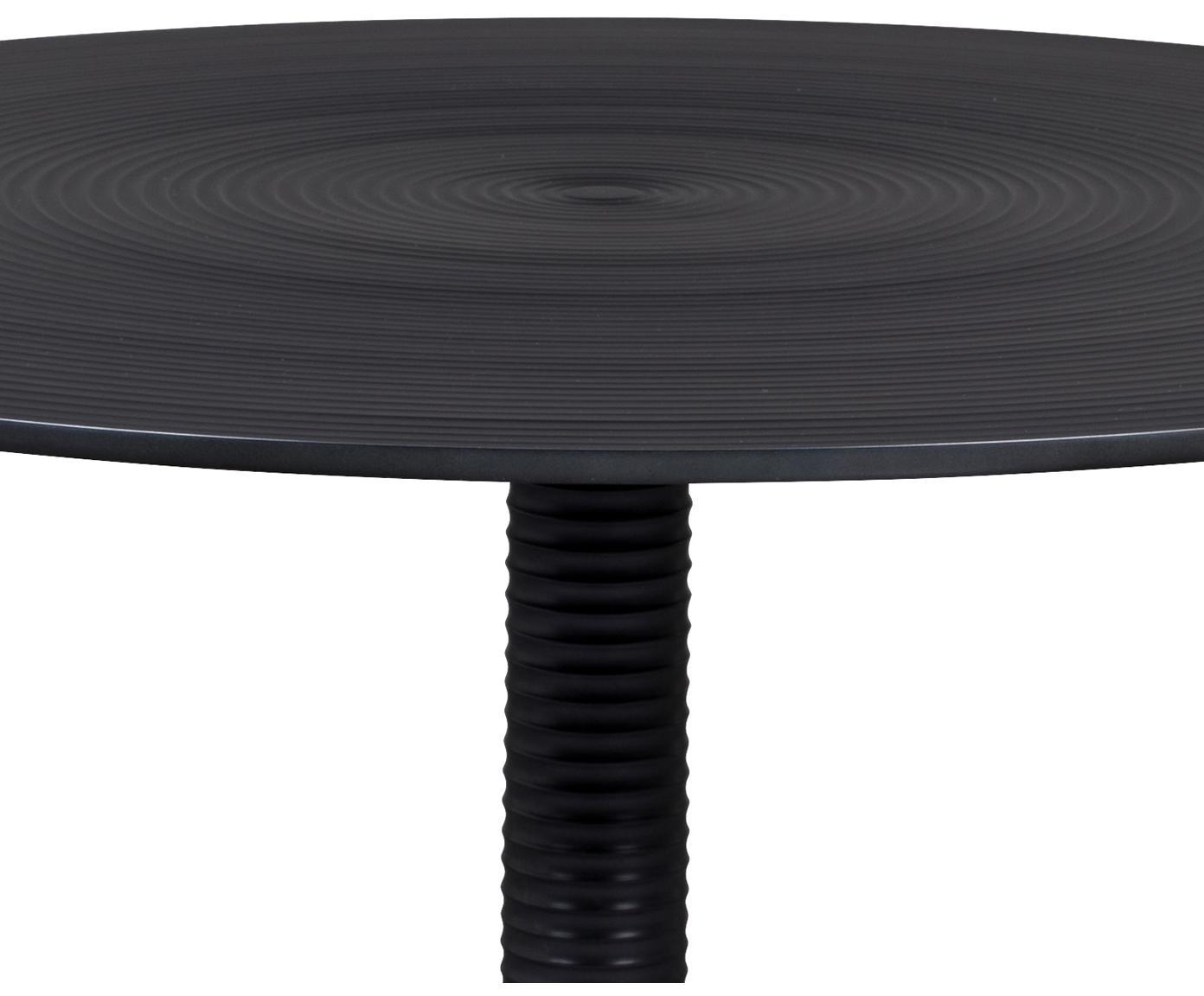 Mesa de centro redonda Hypnotising, Aluminio pintado, Negro, Ø 77 x Al 40 cm