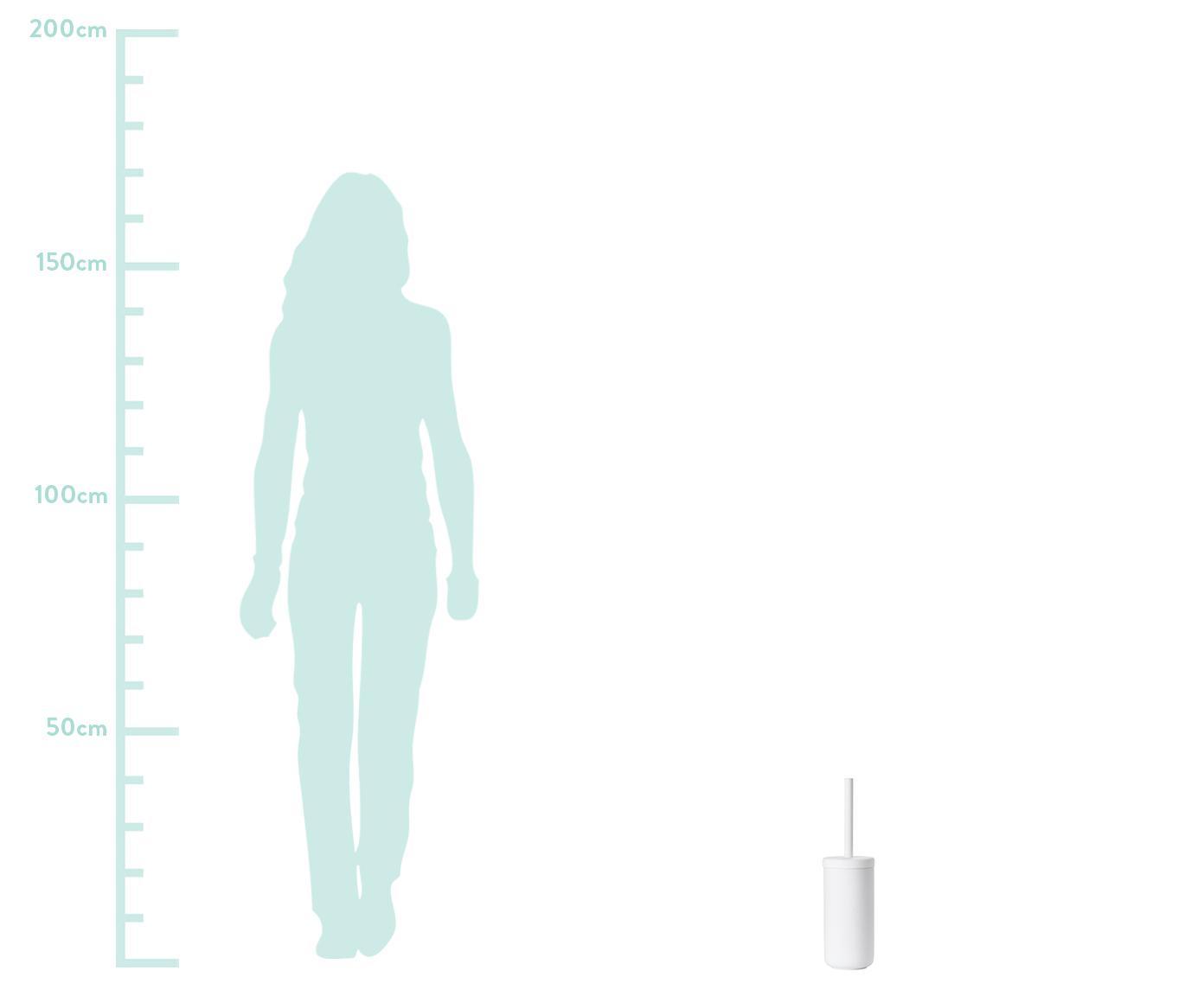 WC-borstel Omega, Mat wit, Ø 10 x H 39 cm