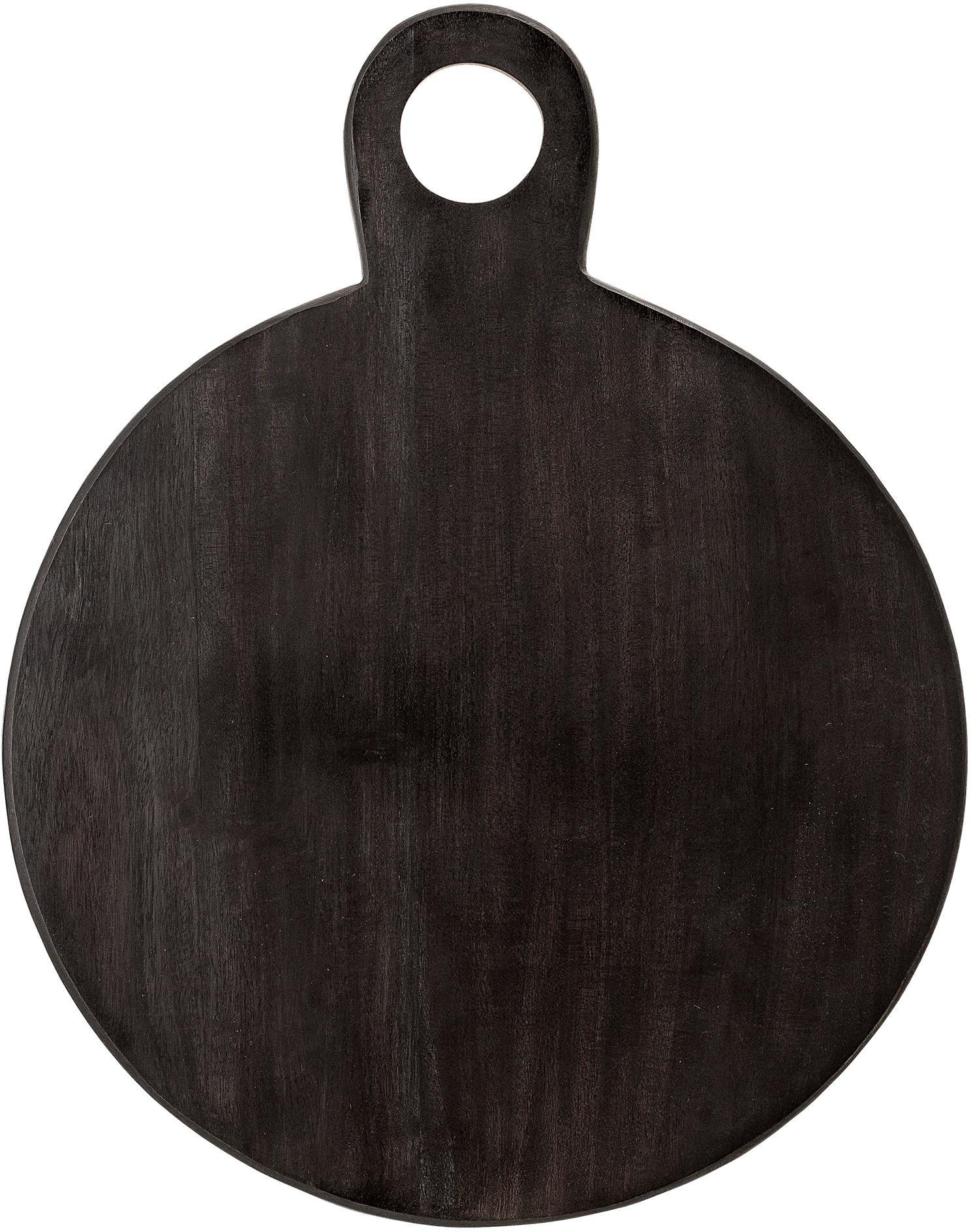 Tabla de cortar Hola, Madera de acacia, recubierto, Negro, An 36 x F 46 cm