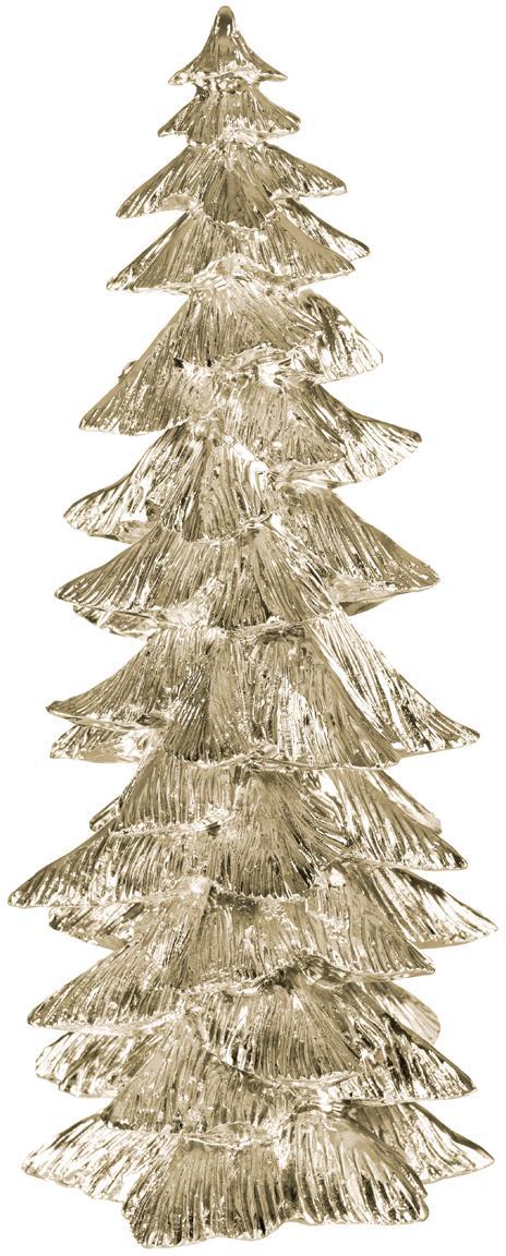 Deko-Objekt Serafina Christmas Tree, Polyresin, Goldfarben, Ø 10 x 20 cm