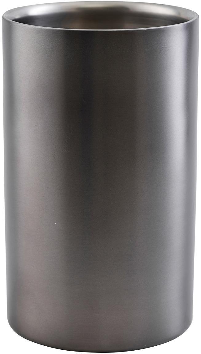Flaschenkühler Gunmetal, Edelstahl, beschichtet, Anthrazit, Ø 12 x H 20 cm
