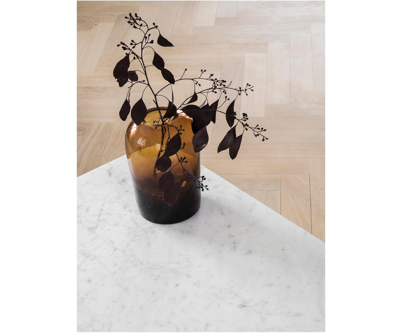 Vaso in vetro soffiato Troll, Vetro, gonfiabile, Ambra, Ø 13 cm