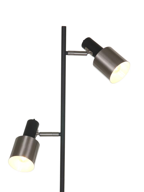 Stehlampe Fjorgard, Schwarz, Silberfarben, matt, Ø 30 x H 155 cm