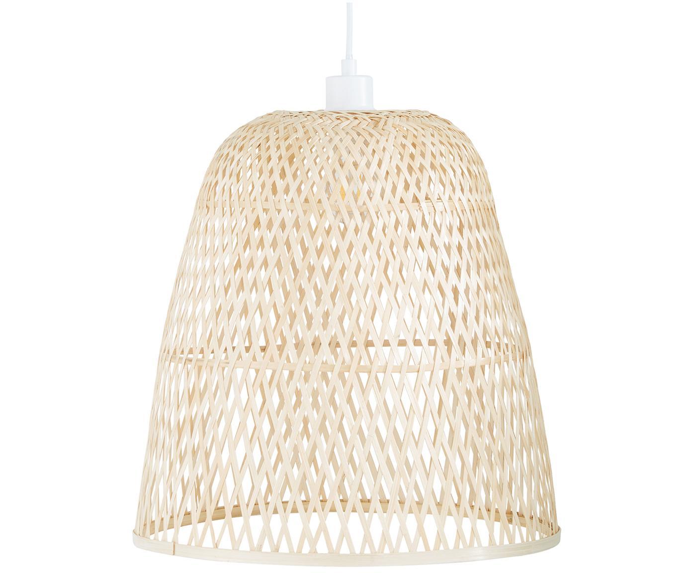 Lámpara de techo Eve, Pantalla: bambú, Cable: plástico El bambú es una , Bambú, Ø 40 x Al 40 cm