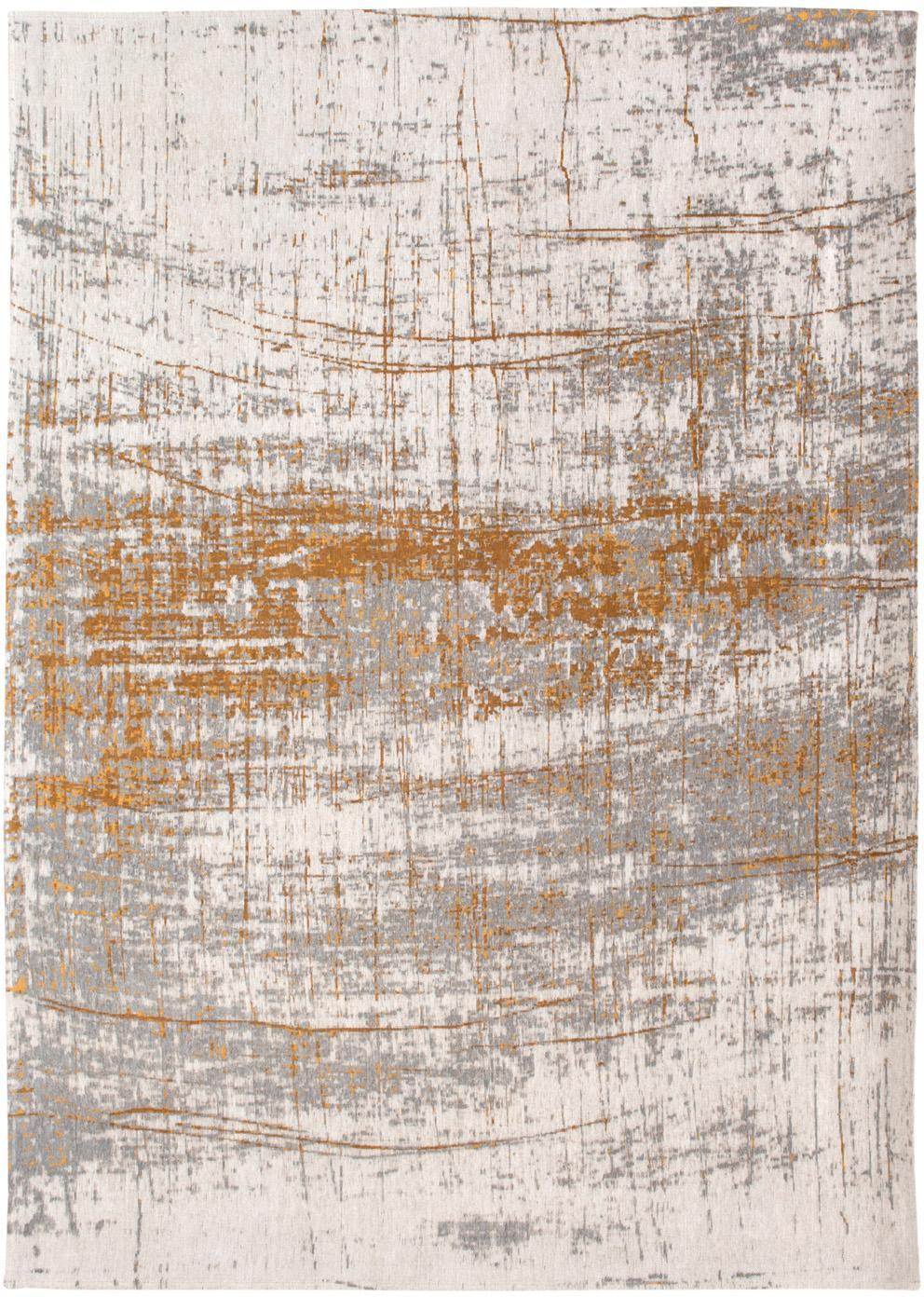 Teppich Griff, Vorderseite: 85%Baumwolle, 15%hochgl, Webart: Jacquard, Rückseite: Baumwollgemisch, latexbes, Grau, Goldfarben, Weiß, B 80 x L 150 cm (Größe XS)