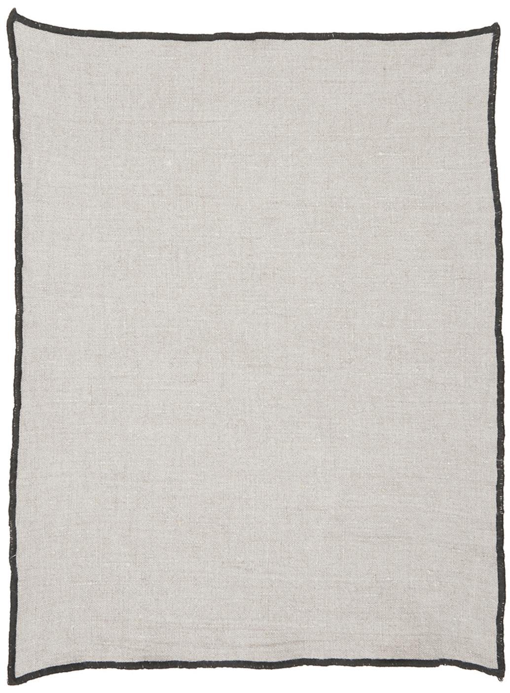 Leinen-Tischsets Luri, 4 Stück, Leinen, Beige, 35 x 45 cm