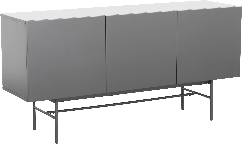 Modernes Sideboard Anders, Korpus: Mitteldichte Holzfaserpla, Korpus: GrauFüsse: Grau, matt, 160 x 80 cm